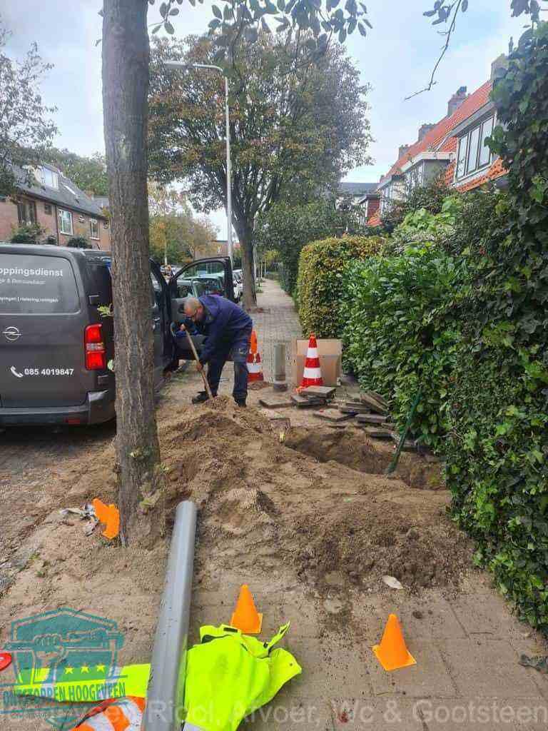 Graven riool Hoogeveen